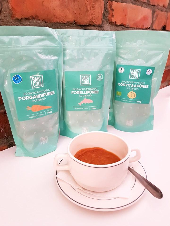 Vanalinna Kohvik pakub BabyCool püreekuubikuid
